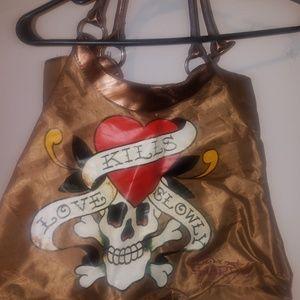 Ed hardy tote bag or large purse.